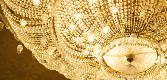 when is a Vuitton not a Vuitton - gold chandelier