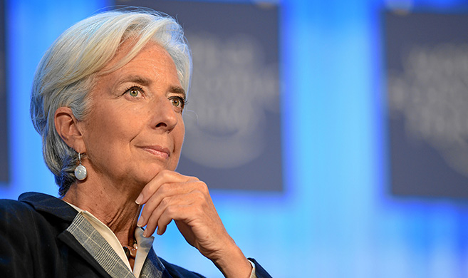 Christine Lagarde Copyright DAVOS/SWITZERLAND