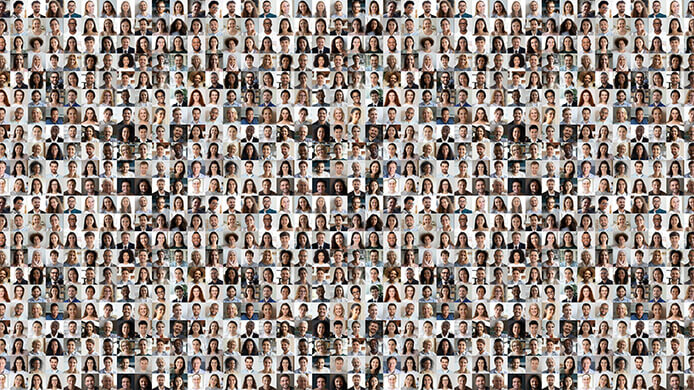 mosaique of people - fizkes-AdobeStock