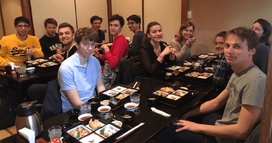 Welcome lunch with HEC exchange students in Keio