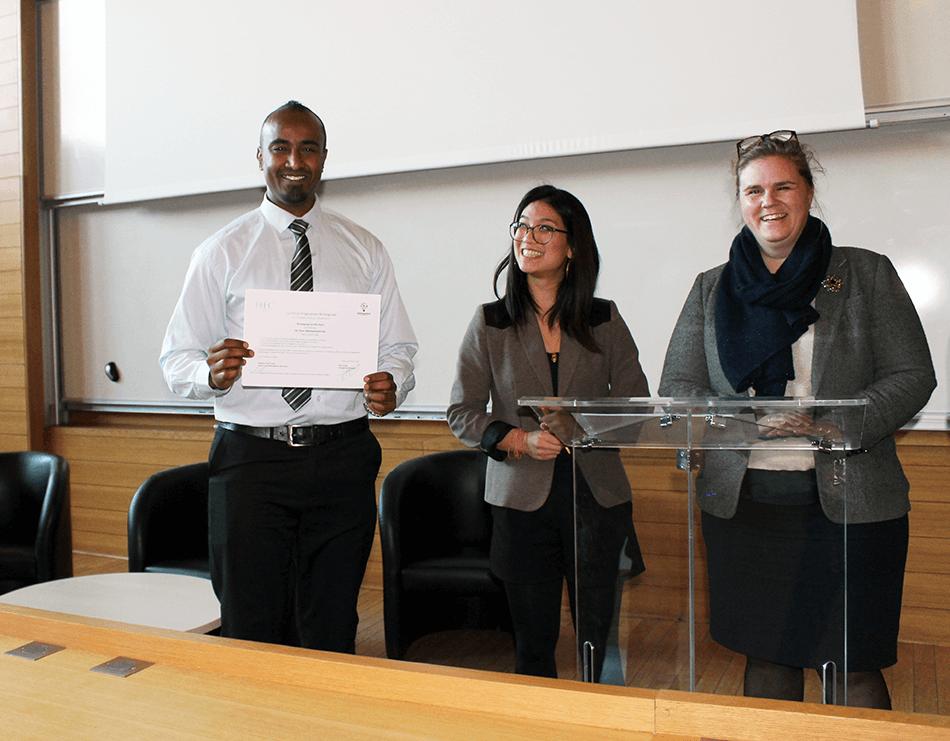 Wintergreat - HEC Paris - Fadi Omar Mohamed and his certificate