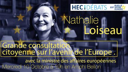 Conférence HEC Débats avec Nathalie Loiseau, Ministre chargée des affaires européennes - HEC Paris 2018