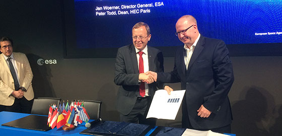 ESALabHEC: An ESA & HEC Paris joint initiative signing ceremony