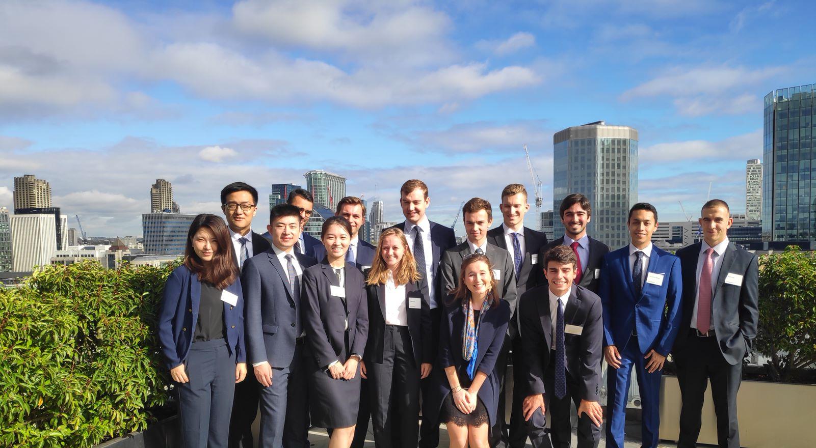 Groupe d'étudiants MIF MFE City Londres