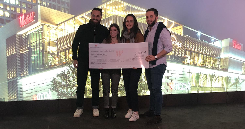 HACKATON d'HEC Paris et Unibail-Rodamco-Westfield - 2 eme finaliste