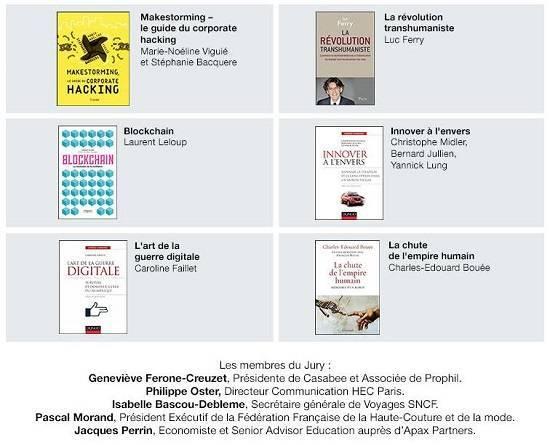 Liste ouvrages Prix Manpower / HEC