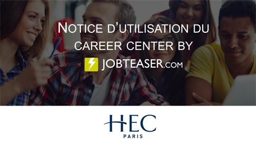 HEC Paris Guie utilisation JobTeaser