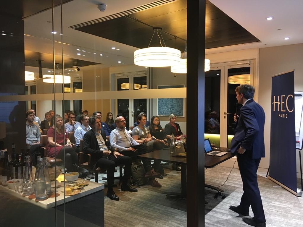 HEC Prof. Gottschalg front of an audience Masterclass in London