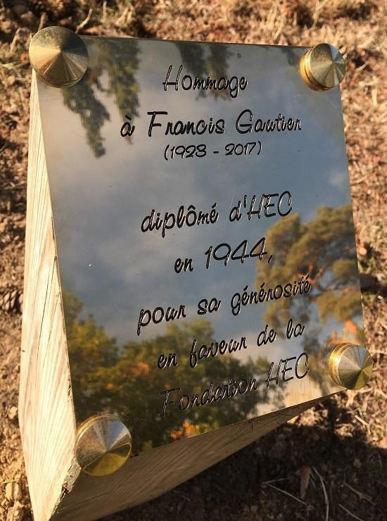 HEC Paris - Hommage à Francis Gautier - Plaque