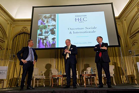 Soirée Fondation HEC 8 nov. - Peter Todd, Bertrand Léonard et Olivier Sevillia