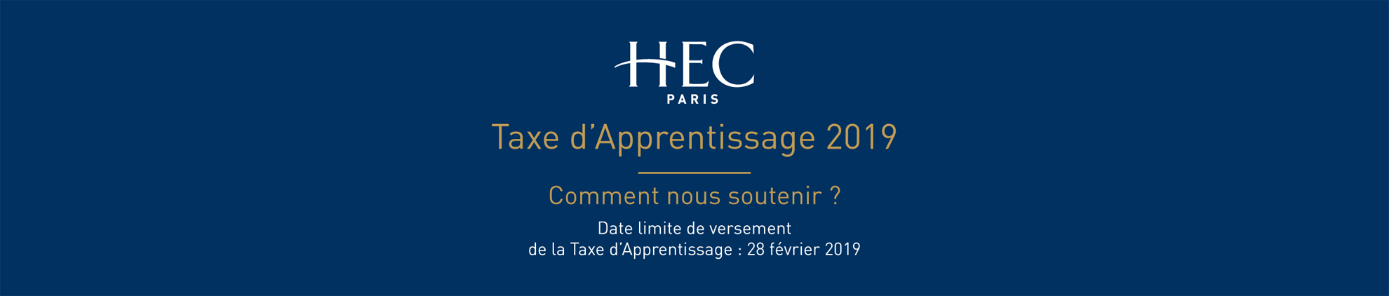 Taxe d'apprentissage HEC Paris 2018