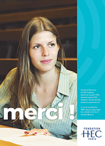 Couverture Brochure Merci 2018 Fondation HEC