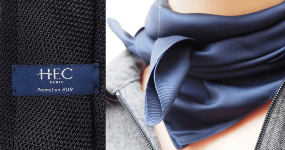 foulard et logo cravate