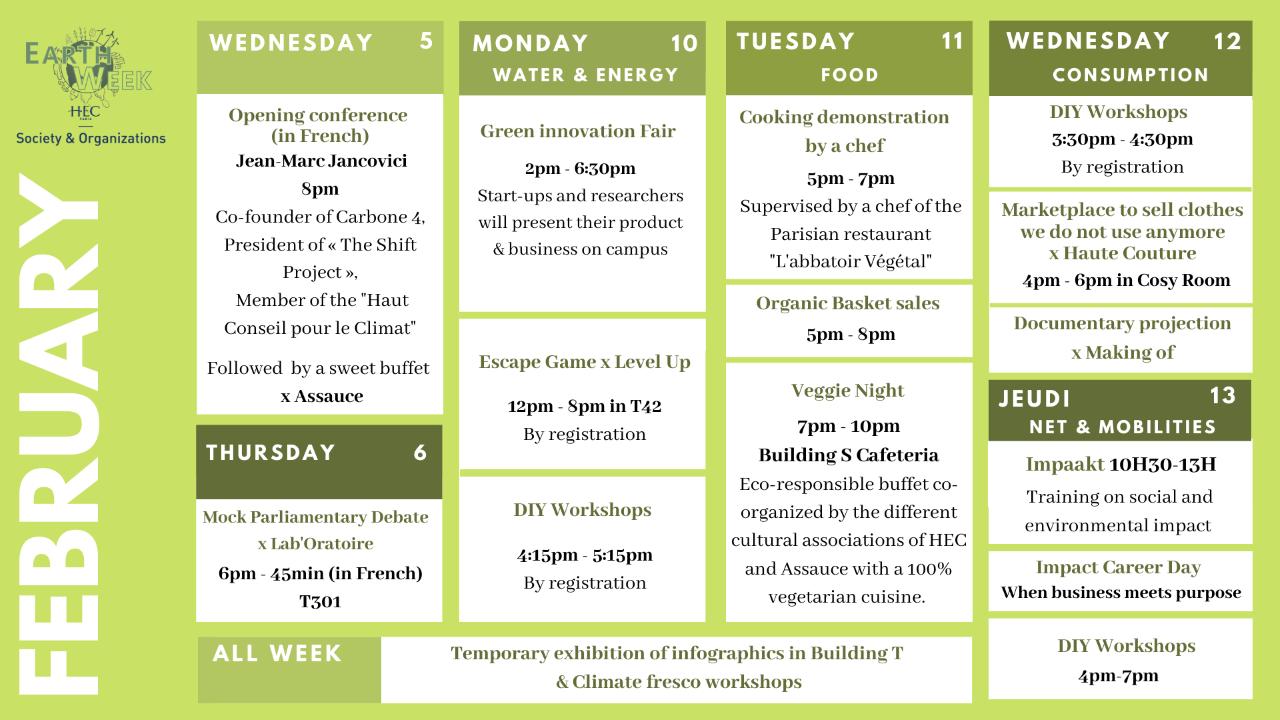 Earch week program