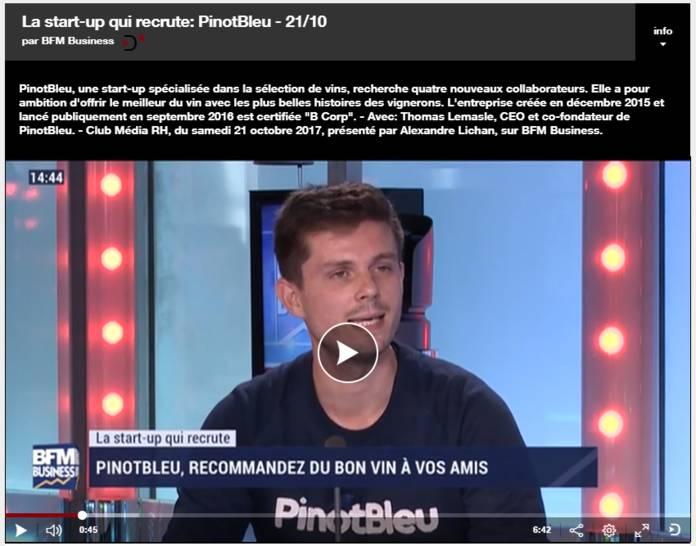 startup pinot bleu