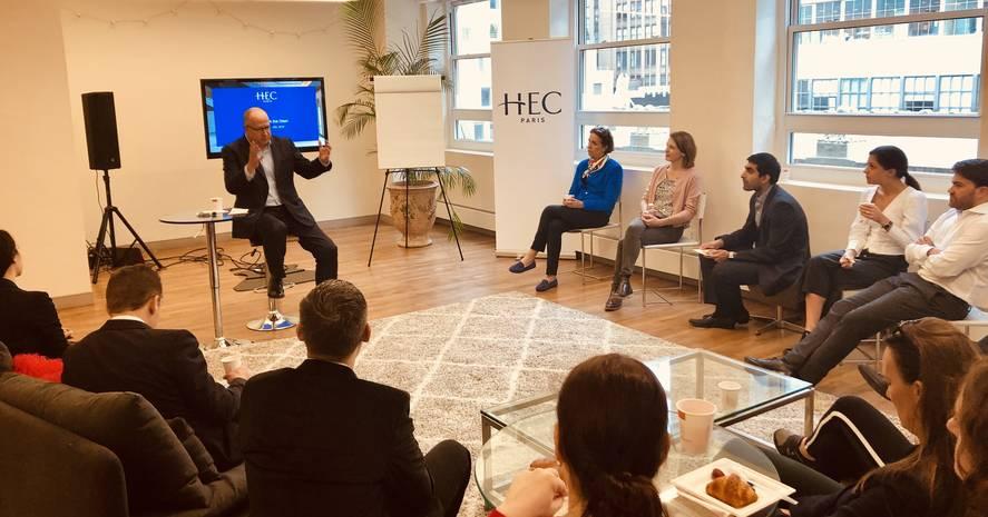 HEC Paris US Office Alumni and Dean May 10 2019
