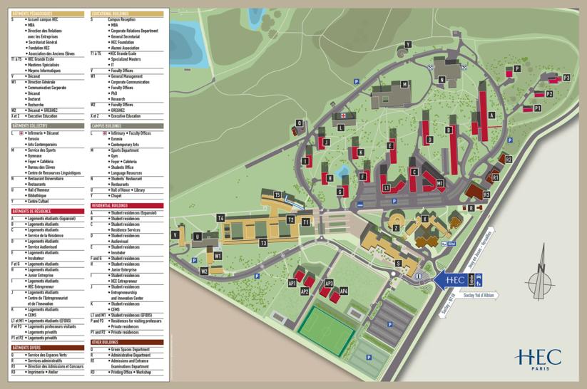 HEC Paris - Campus Map