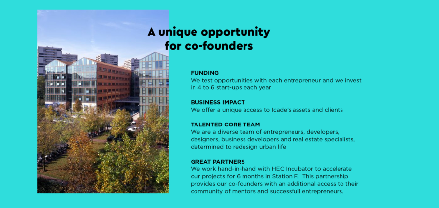 Icade X Incubateur HEC opportunity