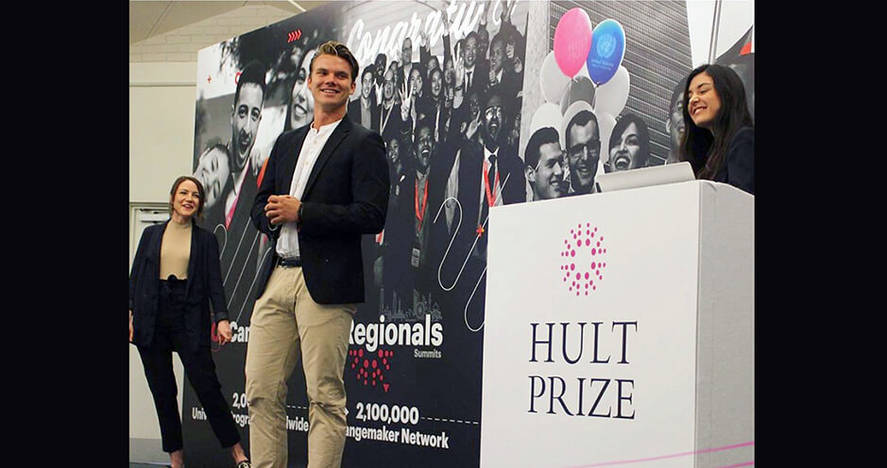 HEC Paris team at Hult Prize final