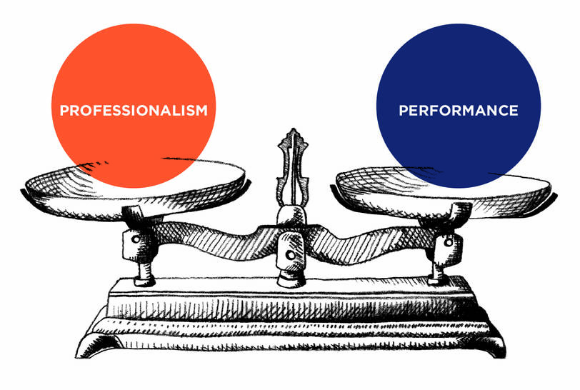 Professionalism and performance