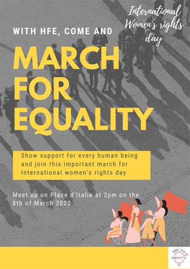 HEC Paris - HEC for Equality - March for Equality 2020