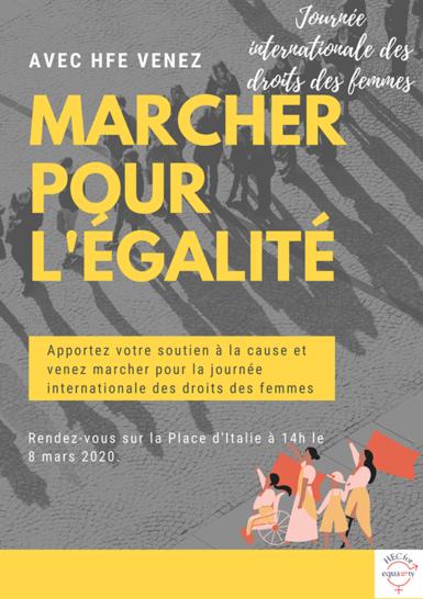 HEC Paris - HEC for Equality - Marcher pour l'égalité - 8 mars 2020