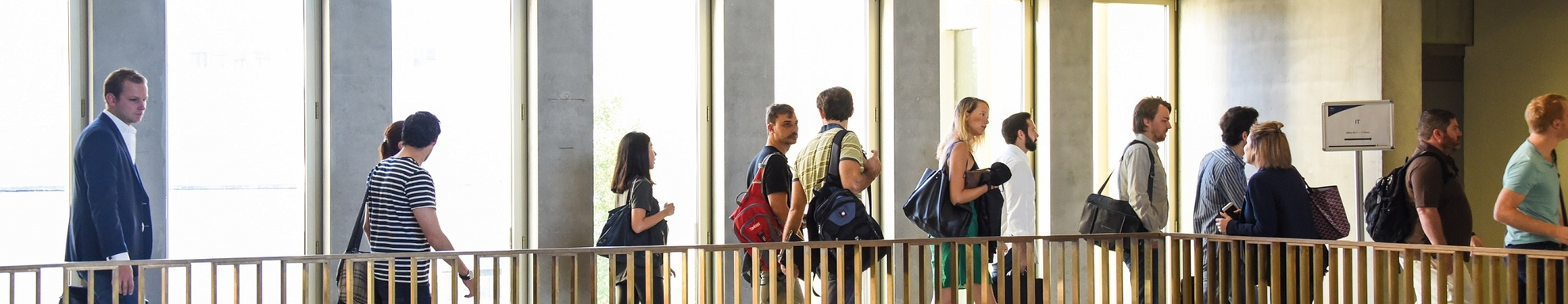 MBA Students in S building lobby