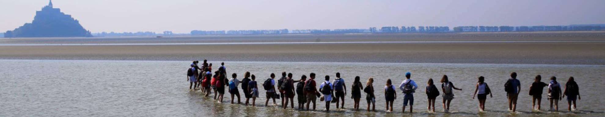 Baie du Mont Saint Michel avec les étudiants - seminaire L3 2019