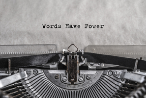 """©gerasimov174- A typing machine with """"Words have power"""""""