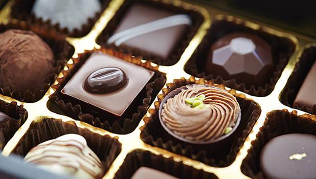 chocolates in a box vignette