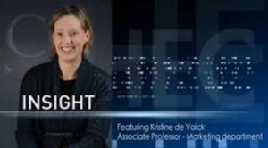 Kristine de Valck talking