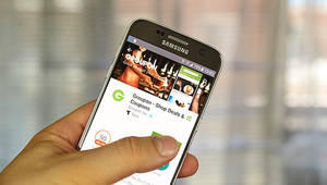 Groupon deal shared on a smartphone vignette