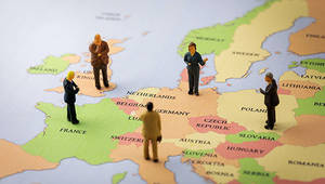 leaders on a map of Europe - thumbnail
