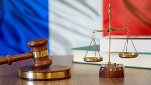 justice balance and french flag - erenmotion