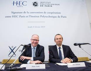 HEC Paris et l'Institut Polytechnique de Paris s'allient au service d'un projet académique d'excellence - Peter Todd et Eric Labaye