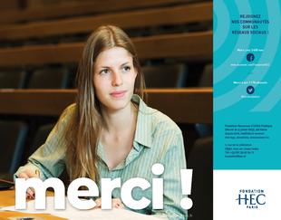 Brochure merci année 2018 Temps Forts et Chiffres-Clés Fondation HEC