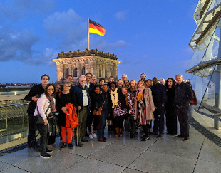 Exed participants in front of Berlin Parliament