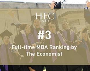 HEC Paris- Classement MBA The Economist - nov. 2019