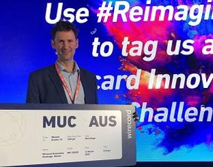 Winner Enée Bussac (H05) Wirecard Innovation Challenge in Munich