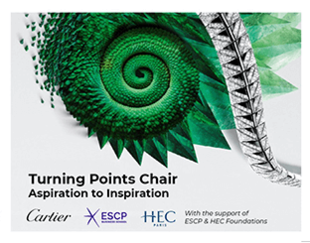 """Turning Points"" Chair - Cartier, HEC Paris and ESCP"