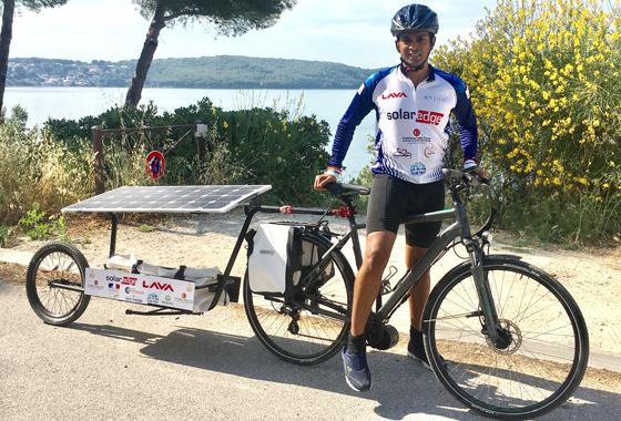 HEC Paris Student Shifting Mindset on Solar Energy Thanks to Customized Bike - Sushil Reddy