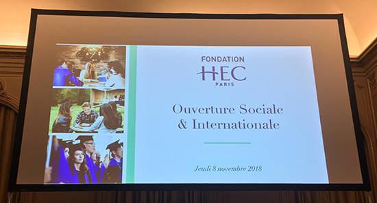 Fondation HEC - Soirée 8 nov. 2018 - Ouverture sociale et internationale