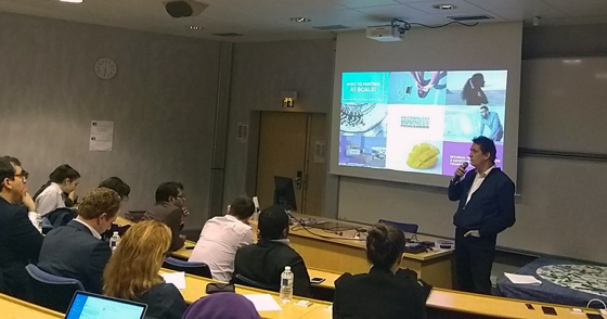 Yves Bernaert Accenture presents the Technology Vision 2018 report at HEC Paris