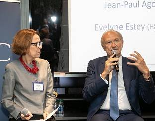 Evelyne Estey and Jean-Paul Agon at L'Oréal USA - HEC annual gathering