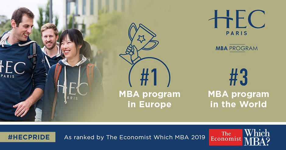 HEC Paris - classement MBA The Economist - nov. 2019