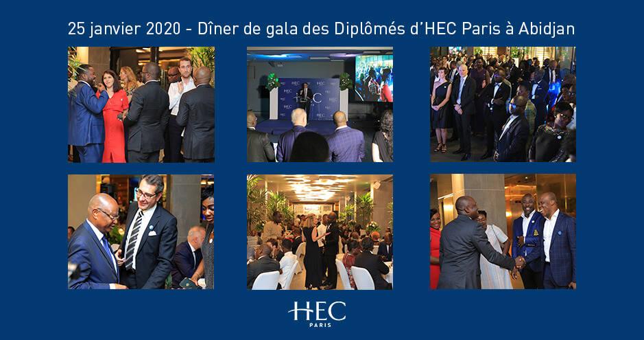 montage de 6 photos Gala HEC ALumni Abidjan janvier 2020