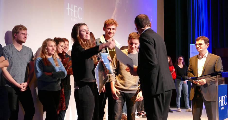 Purposeful leadership - remise des prix par denis machuel  - Hec paris