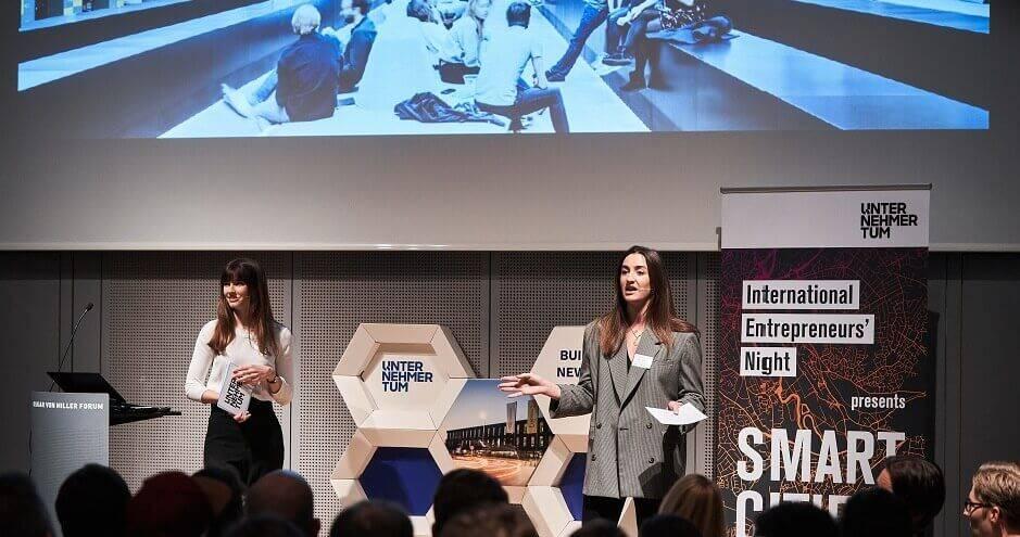 Lisa Gerbe on stage Unternehmer TUM in Munich