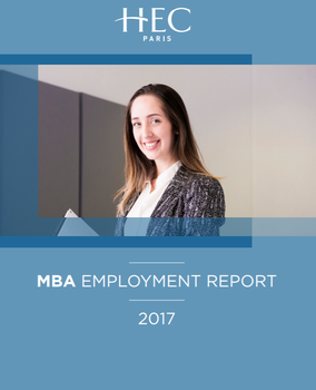 MBA Employment report cover