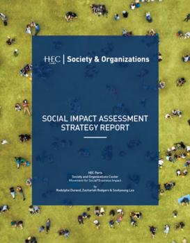 cover page - social impact assessment report ©HEC Paris S&O